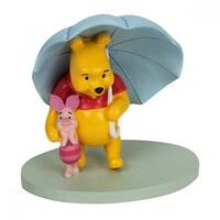 Disney Magical Moments Winnie the Pooh: Figurine Pooh And Piglet 'Umbrella Together'