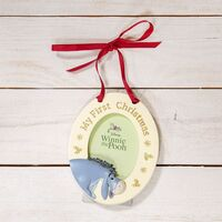 Disney Christmas By Widdop And Co Hanging Photo Frame: 'My First Christmas' Eeyore