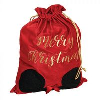 Disney Christmas By Widdop And Co Velvet Gift Sack - Minnie Mouse