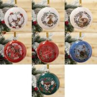 Disney Christmas By Widdop And Co Bauble: Bambi Set of 7