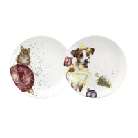 Royal Worcester Wrendale Christmas Mouse and Dog Coupe Plate