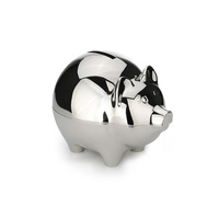 Whitehill Baby - Silver Plated Money Box - Piggy Bank