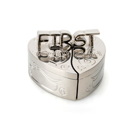 Whitehill Baby - Silverplated Heart First Tooth and Curl Box