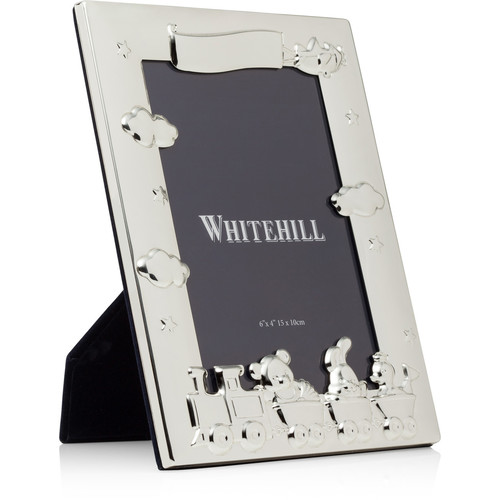Whitehill Baby - Silver Plated Photo Frame - Nursery Train