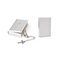 Whitehill Giftware - Rosary Beads in White Leatherette Case