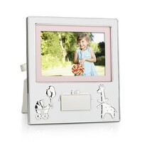 Whitehill Silver Plated Photo Frame - Pram and Giraffe