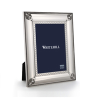 Whitehill Frames - Silver Plated Photo Frame -  Jewel/Love Hearts 21cm x 26cm