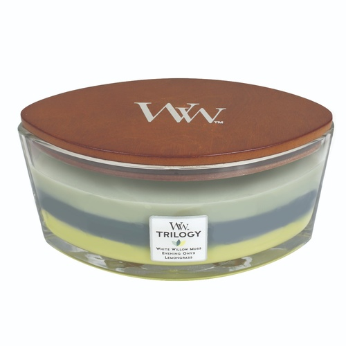 WoodWick HearthWick Trilogy Candle - Woodland Shade