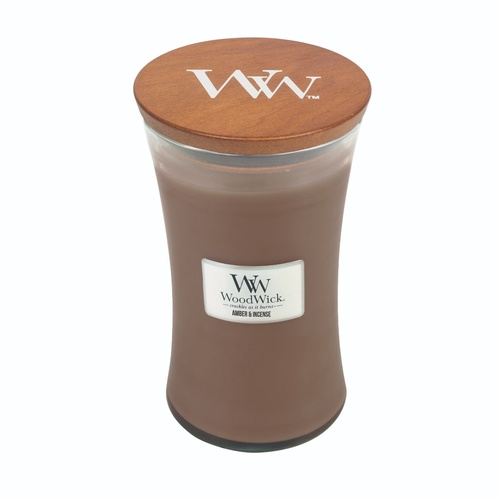 Woodwick Large Candle - Amber & Incense