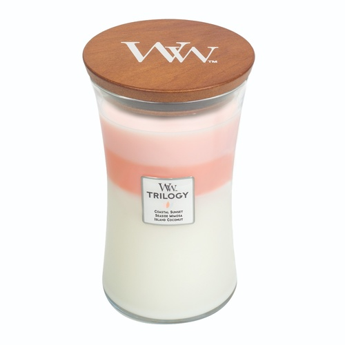 Woodwick Large Trilogy Candle - Island Getaway