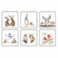 Royal Worcester Wrendale Christmas Coasters (Set of 6)