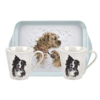 Royal Worcester Wrendale Dogs Mug and Tray Set