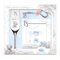 Tatty Teddy Me To You Signature Collection - 18th Birthday Flute, Frame And Keepsake Key Gift Set