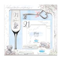 Tatty Teddy Me To You Signature Collection - 21st Birthday Flute, Frame And Keepsake Key Gift Set