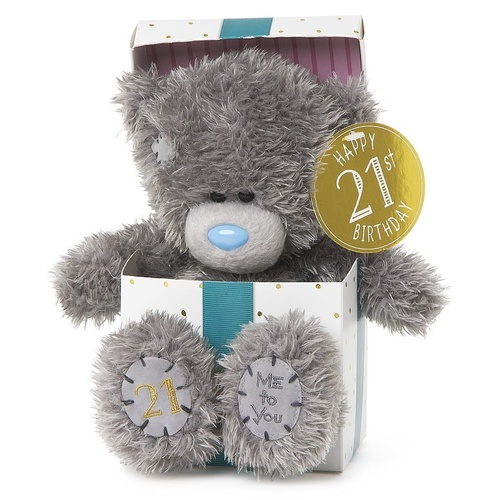 Tatty Teddy Me to You Bear - Happy 21st Birthday Bear in box