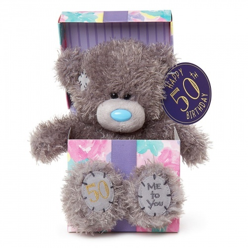 Tatty Teddy Me to You Bear - Happy 50th Birthday Bear In Box