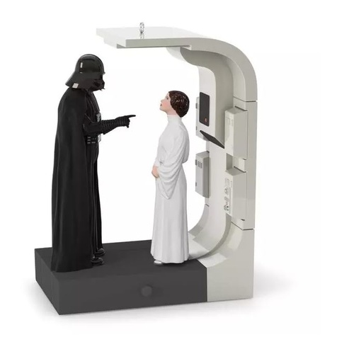 2016 Hallmark Keepsake Ornament - Star Wars: A New Hope Royal Or Rebel? Vader And Leia Ornament With Sound