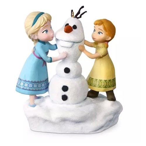 2016 Hallmark Keepsake Ornament - Disney Frozen Anna and Elsa Build a Snowman Musical Ornament